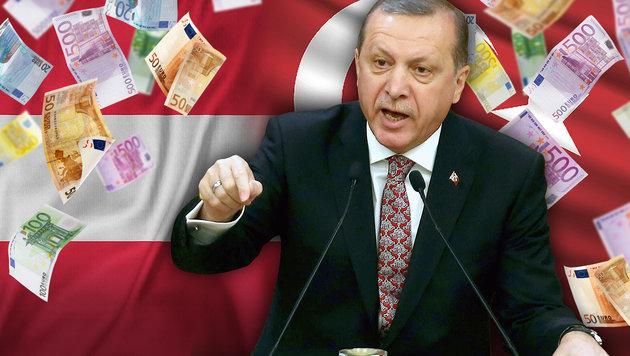 Kurz fordert: Stopp für EU-Milliarden an Türkei (Bild: AFP/ADEM ALTAN, thinkstockphotos.de, krone.at-Grafik)