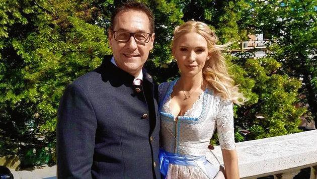 Heinz-Christian Strache mit seiner Philippa (Bild: facebook.com)