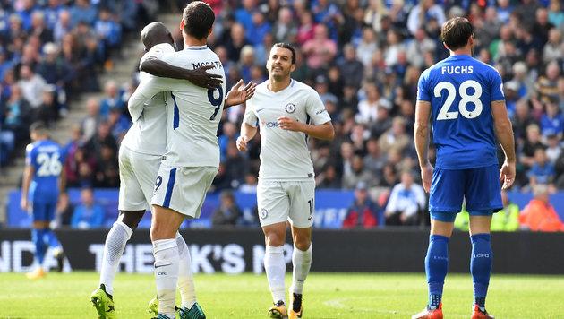 Fuchs verliert mit Leicester gegen Meister Chelsea (Bild: AFP)