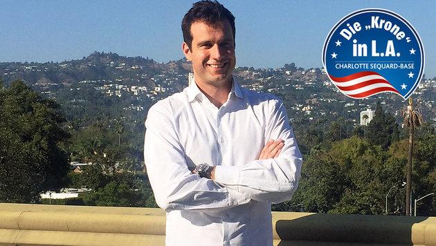 Markus Rogan beim Talk in Los Angeles (Bild: Charlotte Sequard-Base)