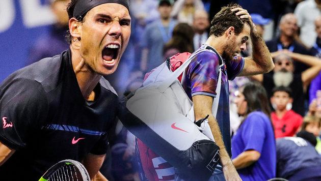 Nadal stoppt del Potro und steht im US-Open-Finale (Bild: AP, krone.at-Grafik)