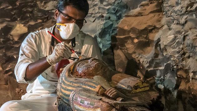 Wertvolles Grab eines Goldschmieds entdeckt (Bild: AFP)