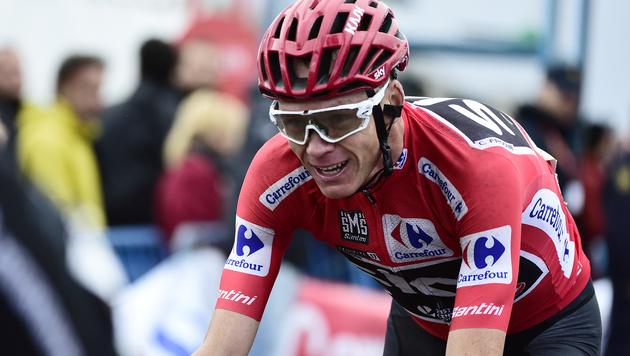 Chris Froome krönt sich zum Vuelta-Sieger (Bild: AFP)