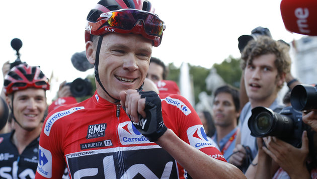 Froome gewinnt nach Tour de France auch Vuelta! (Bild: Copyright 2017 The Associated Press. All rights reserved.)