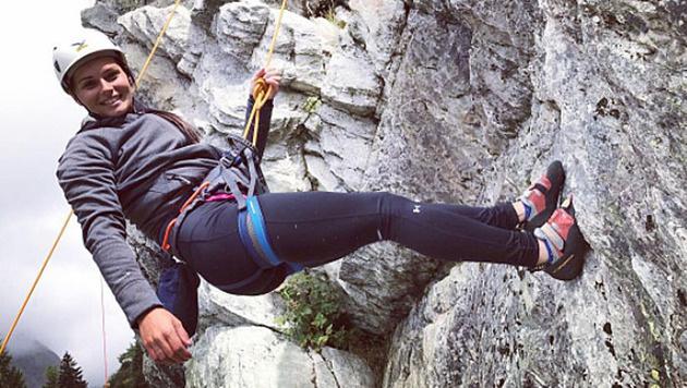 Anna Veith hat Spaß beim Klettern! (Bild: instagram.com/Anna Veith)