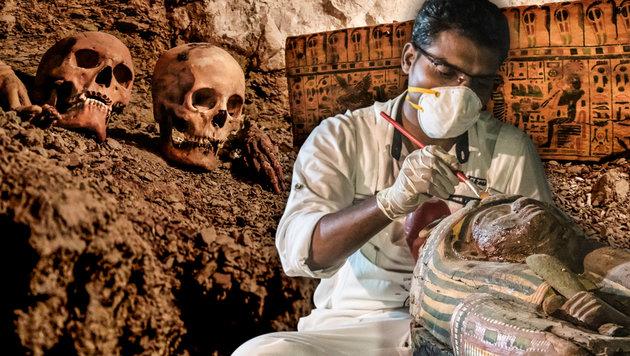 Wertvolles Grab eines Goldschmieds entdeckt (Bild: AFP, AP, krone.at-Grafik)