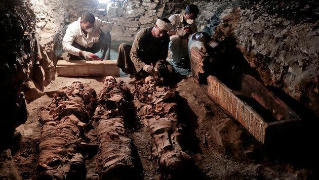 Wertvolles Grab eines Goldschmieds entdeckt (Bild: Associated Press)