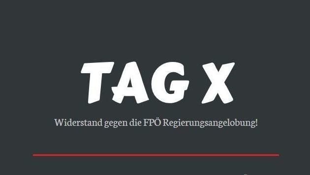 "Radikale Linke drohen FPÖ mit ""Kreativ-Demos"" (Bild: ""Krone"")"