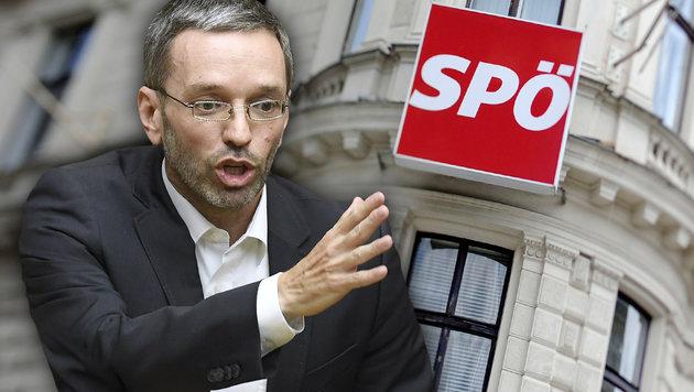 """""""Silberstein, Gusenbauer, Niedermühlbichler sind die Sargnägel der SPÖ-Wahlkampagne"""": FPÖ-Mann Kickl (Bild: APA/ROBERT JAEGER, APA/ROLAND SCHLAGER, krone.at-Grafik)"""