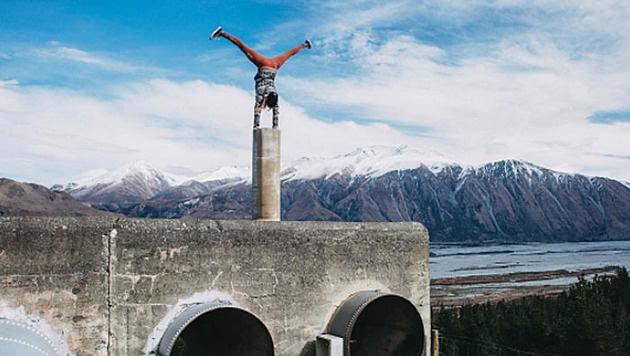 Akrobatisch: So trainiert Anna Gasser für die neue Big-Air-Saison! (Bild: instagram.com/Anna Gasser)