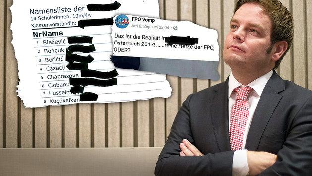 Tirols FPÖ-Obmann Markus Abwerzger (Bild: APA/EXPA/Jürgen Feichter, facebook.com, krone.at-Grafik)