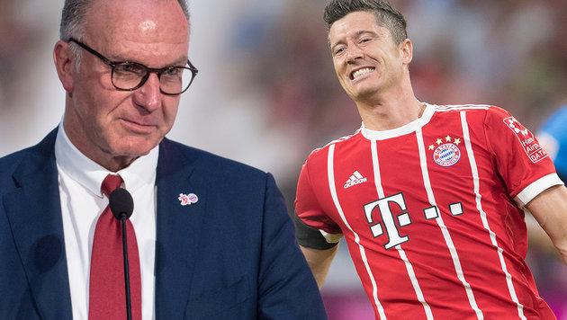 Wirbel bei Bayern: Rummenigge droht Lewandowski! (Bild: AFP, GEPA, krone.at-Grafik)