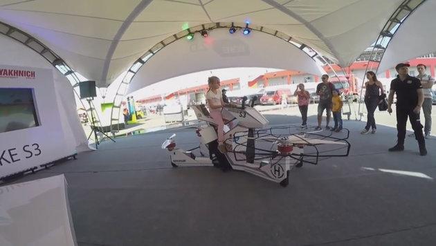 """Star Wars"" wird real: Russen zeigen ""Hoverbike"" (Bild: YouTube.com)"