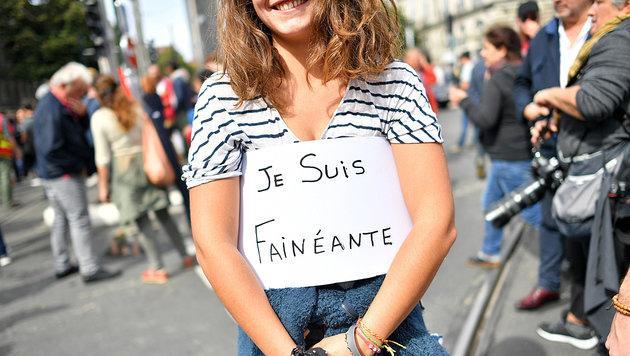 """Dies junge Dame outet sich als """"Faulenzerin"""". (Bild: AFP)"""