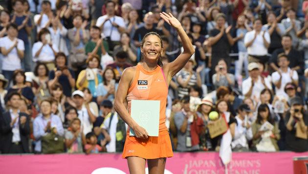 Höchststrafe zum Abschied für Kimiko Date (46) (Bild: AFP)