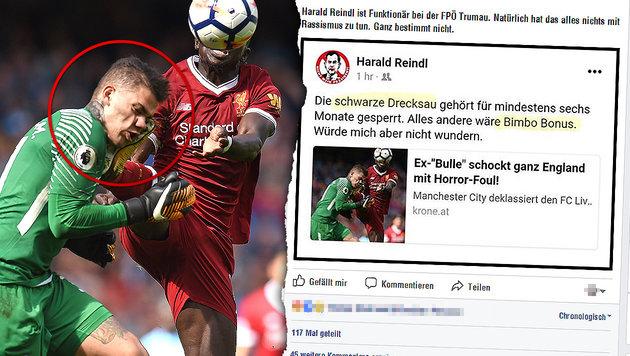"""""""Schwarze Drecksau"""": Eklat um Ex-FPÖler-Posting (Bild: AFP/Oli Scarff, facebook.com, krone.at-Grafik,)"""