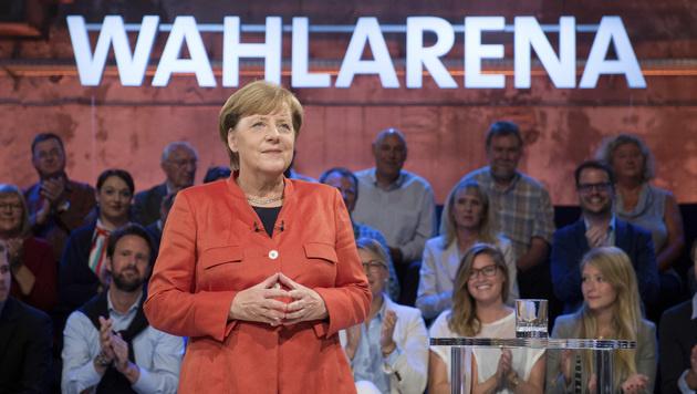 """Angela Merkel in der ARD-""""Wahlarena"""" (Bild: AP)"""