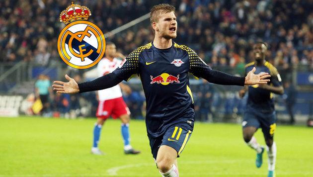 Real Madrid hat Leipzig-Knipser Werner im Visier (Bild: GEPA, Real Madrid)