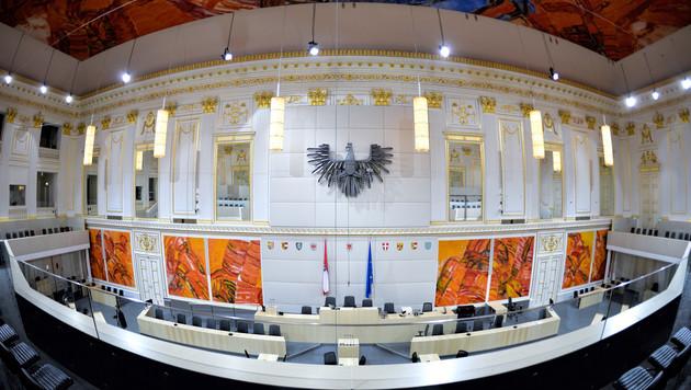 So prunkvoll regiert unsere Politik in Wien (Bild: APA/HERBERT NEUBAUER)