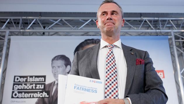 """FPÖ-Wahlprogramm: """"Asyl nur Schutz auf Zeit"""" (Bild: APA/GEORG HOCHMUTH)"""