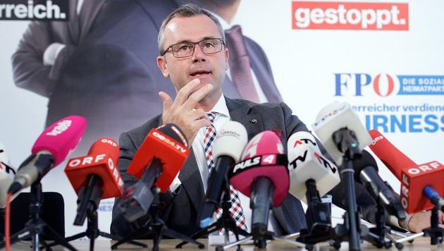 Norbert Hofer präsentierte statt Heinz-Christian Strache das Wahlprogramm der FPÖ. (Bild: APA/GEORG HOCHMUTH)