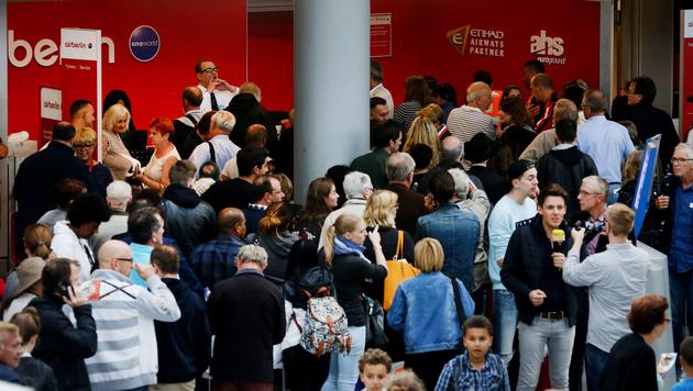 Air-Berlin-Crews melden sich wieder zur Arbeit (Bild: AFP)