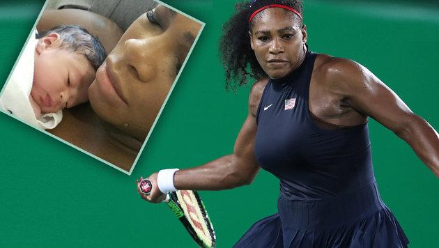 Süß! Tennis-Star Serena Williams zeigt Töchterchen (Bild: GEPA, Instagram.com, krone.at-Grafik)