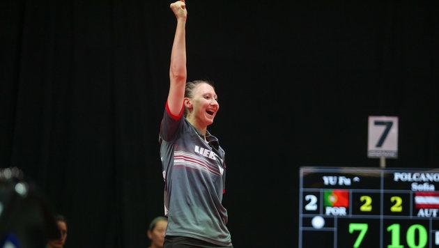 Tischtennis-Damen vorzeitig im EM-Viertelfinale (Bild: GEPA)