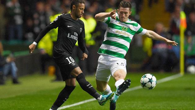 CL-Aufreger: Neymar zofft sich mit Celtic-Teenie! (Bild: AFP)
