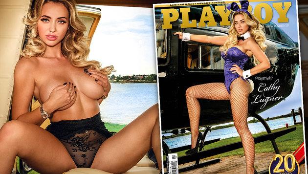 """Cathy Lugner nackt im slowakischen """"Playboy"""" (Bild: Johnny Kortis/Playboy Chef, Mario Gotti Photography)"""