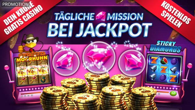 Jetzt neu: Missionen bei Jackpot! (Bild: Whow Games, krone.at-Grafik)
