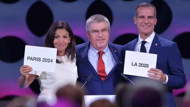 Olympische Spiele: Zuerst Paris, dann Los Angeles (Bild: AFP)