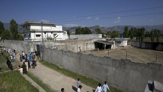 Auf diesem Anwesen von Bin Laden in Pakistan wurden die Pornos gefunden. (Bild: AP)