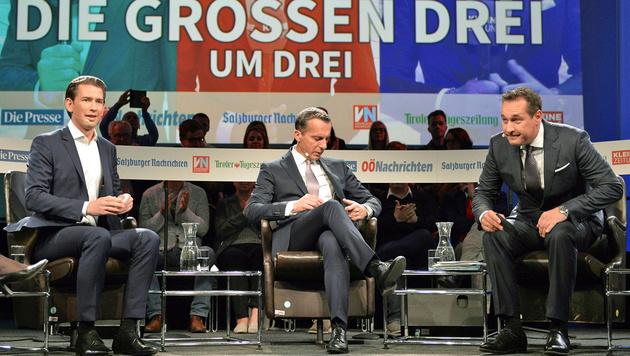 """""""Und dann kommt Doskozil - und es geht weiter ..."""" (Bild: APA/HERBERT NEUBAUER)"""