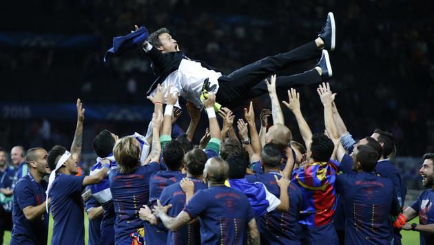 Bei Barcelona gefeiert, derzeit ohne Klub: Luis Enrique (Bild: AP)