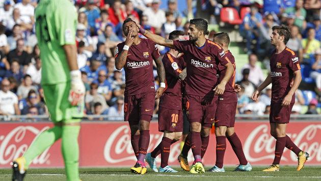 Barcelona zittert sich bei Getafe zu 2:1-Sieg (Bild: Associated Press)
