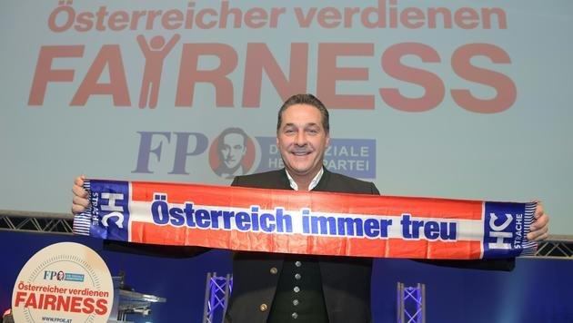 """FPÖ-Wahlauftakt mit Warnung vor """"Islamisierung"""" (Bild: FOTOKERSCHI.AT/WERNER KERSCHBAUMMAYR)"""