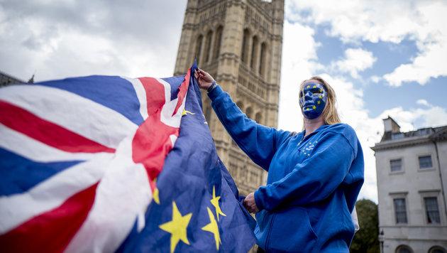 Briten wollen EU bei Brexit 20 Mrd. Euro zahlen (Bild: AFP)