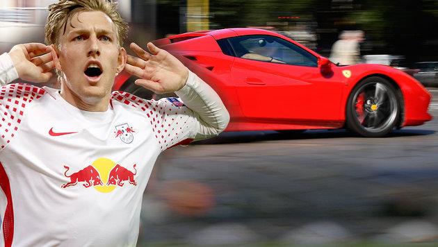 Spendabel! Leipzig-Star schenkt Berater Ferrari (Bild: GEPA, AFP, krone.at-Grafik)