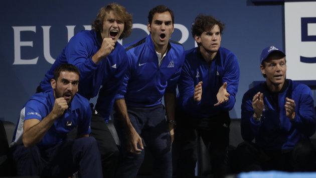 Federer und Nadal bescheren Europa 7:1-Führung (Bild: AP)