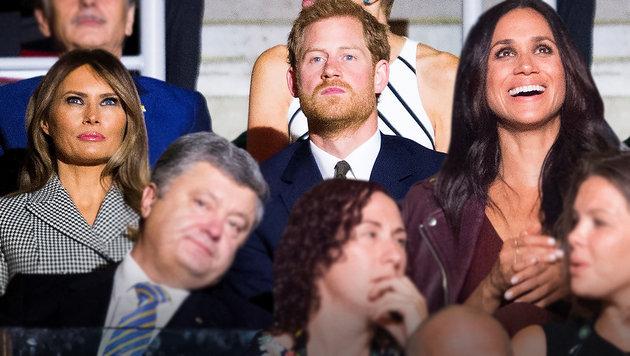 Erster offizieller Auftritt von Harry und Meghan! (Bild: AP, krone.at-Grafik)