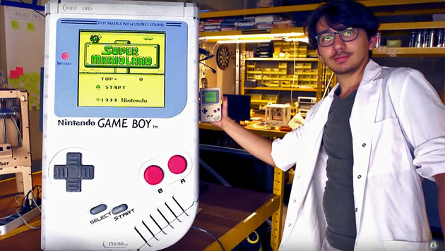 Game Boy XXL: Student baut Riesen-Handheld (Bild: YouTube.com)