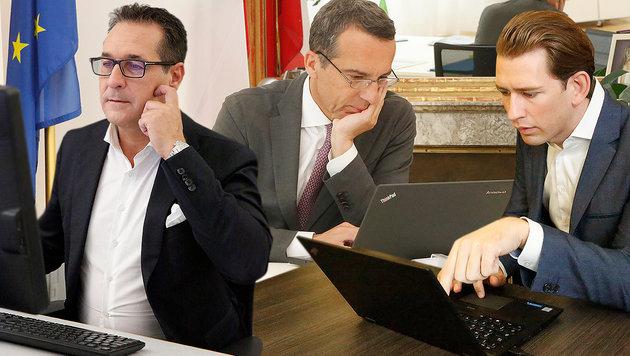 """""""Krone""""-Check: So ticken die Spitzenkandidaten (Bild: Martin A. Jöchl, krone.at-Grafik)"""