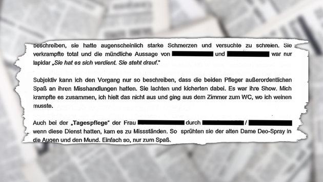 Jetzt 2 Festnahmen im sadistischen Pflegeskandal (Bild: Falter, stock.adobe.com, krone.at-Grafik)