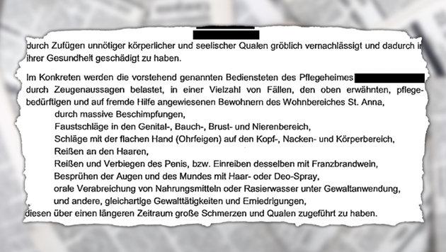 "Jetzt 2 Festnahmen im sadistischen Pflegeskandal (Bild: ""Falter"", stock.adobe.com, krone.at-Grafik)"