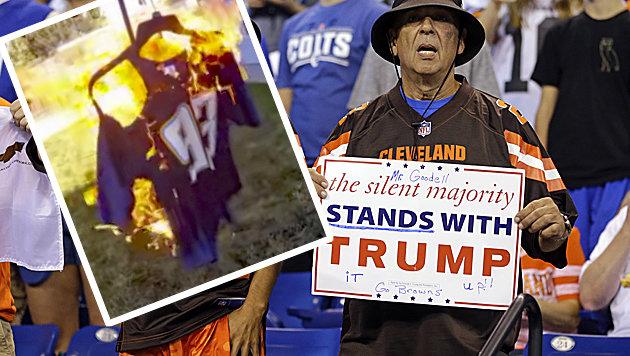 Wütende NFL-Fans verbrennen jetzt ihre Fanartikel! (Bild: Associated Press)