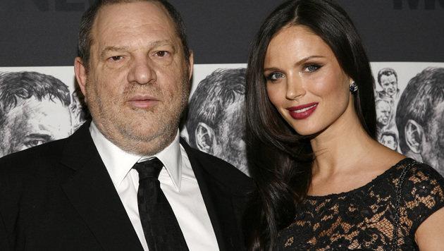 Harvey Weinstein mit seiner Noch-Ehefrau Georgina Chapman (Bild: AP)