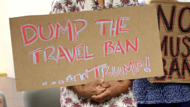 Einreisestopp: Jetzt blockiert Hawaii Trumps Pläne (Bild: AP)