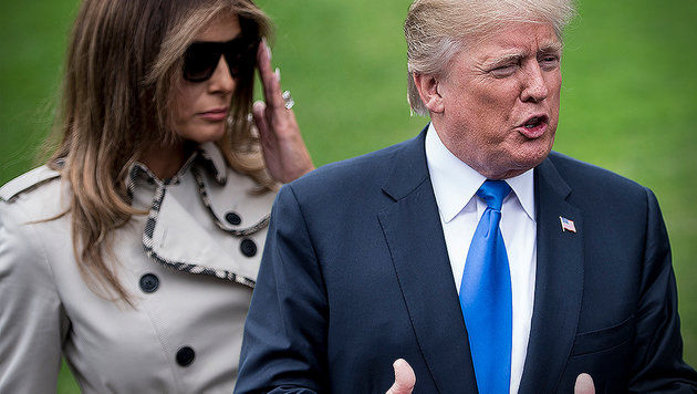 Melania Trump: Hat sie ein Körper-Double? (Bild: AFP, krone.at-Grafik)