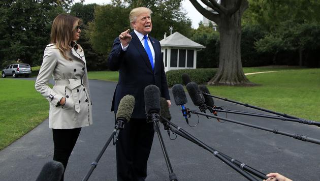 Melania Trump: Hat sie ein Körper-Double? (Bild: AP)